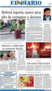 Periódico El Diario Tapa