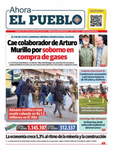 Periódico El Pueblo Tapa