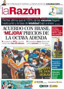 Periódico La Razón Tapa