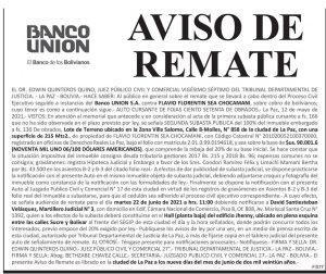 publicar remate en bolivia
